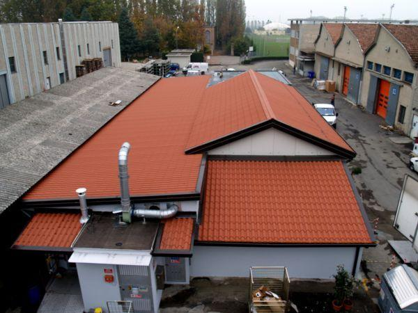 industrial roof IsoCoppo Piano