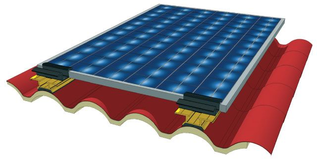 photovoltaic panels on IsoCoppo roof